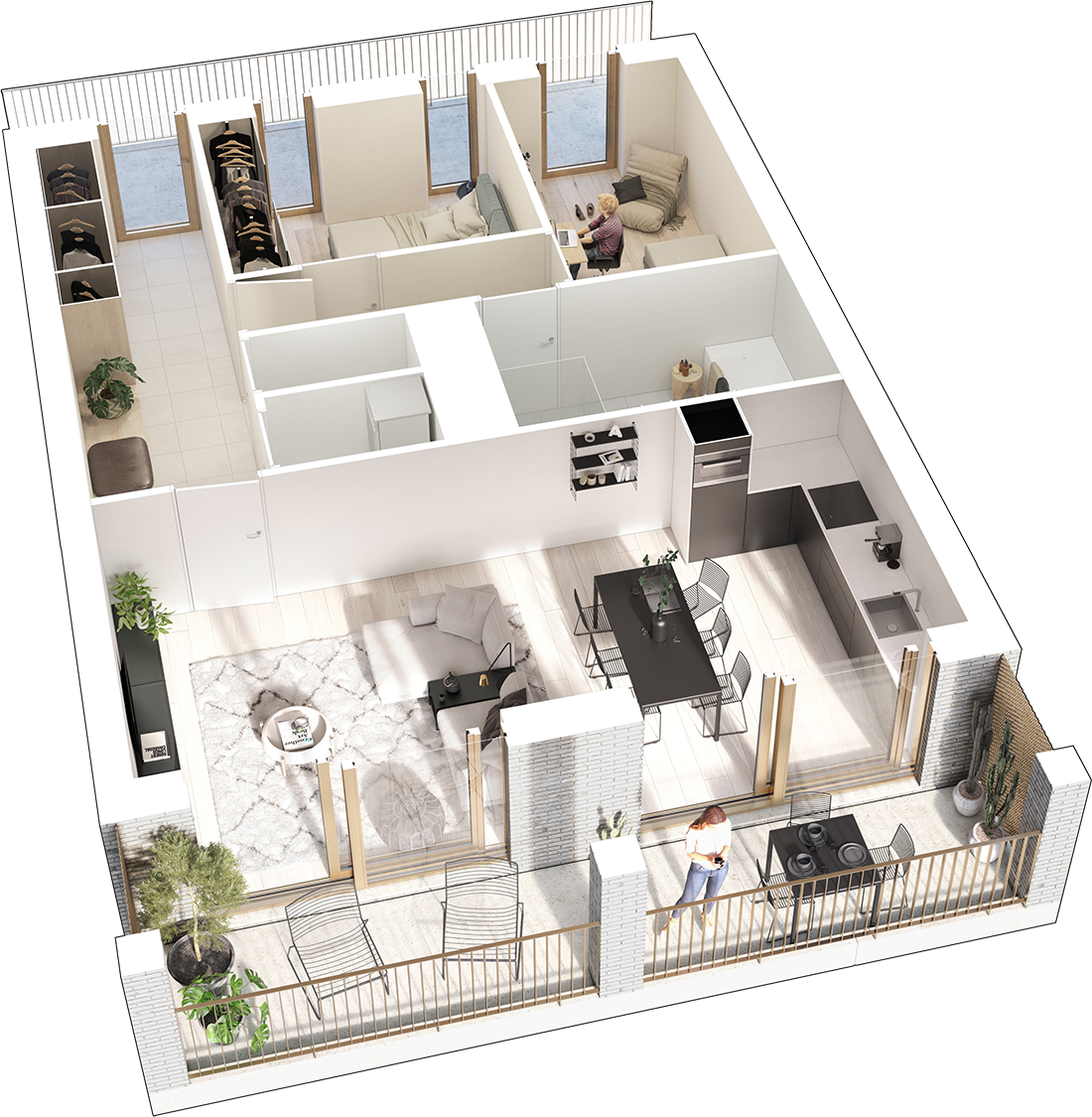 2-bedroom apartments